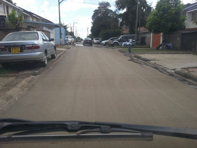 The completed Magiwa Estate Road funded by Kibra CDF.
